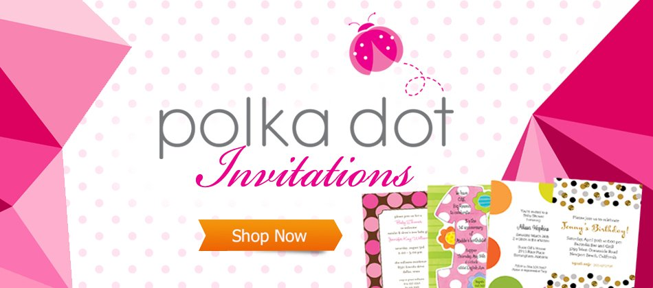 invitations announcements and stationery polka dot invitations