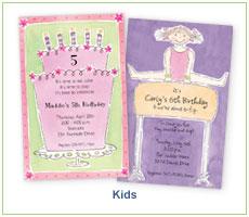 Picture Perfect Digital Designs Children and Kids Invitations