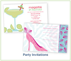 Polka Dot Design Party Invitations