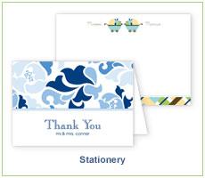 Polka Dot Design Stationery