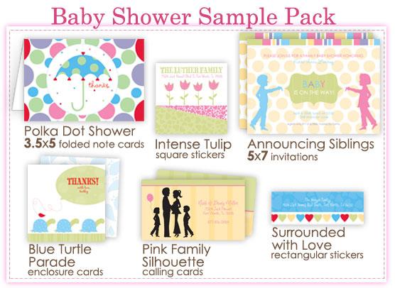 Baby Shower Sample Pack