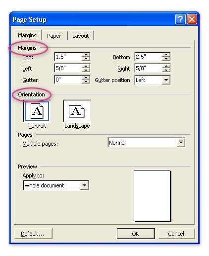 mla format margin size