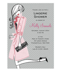 Lingerie Shower Invitations