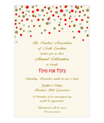 Faux Designs Corporate Confetti Party Invitations