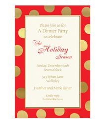 Faux Designs Corporate Holiday Party Invitations