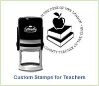Custom Stamps for Teachers