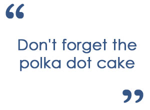 Polka Dot Party Refreshments