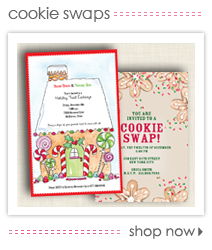 Holiday Cookie Swap Invitations