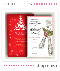 Holiday Formal Party Invitations