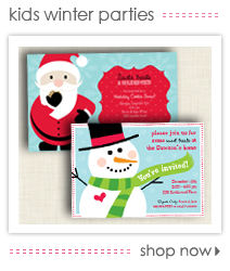Holiday Kids Winter Party Invitations