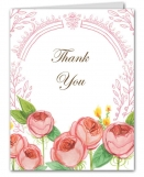 English Rose Garden Wedding Suite Thank You Note