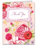 Floral Whimsy Thank You Note