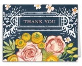 Lush Floral Thank You Note