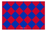 Red and Blue Checkerboard RSVP