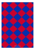 Red and Blue Checkerboard