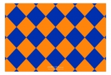 Orange and Blue Checkerboard Insert Card
