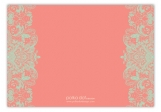 Mint And Coral Reply Card