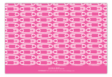 Adorable Diaper Pins Pink Baby Shower Flat Note Card