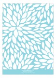 Aqua Blue Flower Petals Invitation