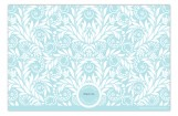 Aqua Blue Foliage Card