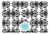 Aqua Damask Flat Note Card