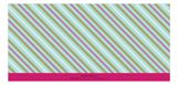 Aqua Striped Banner Photo Card