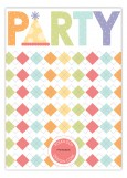 Argyle Party Photo Card