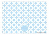 Baby Blue Cupcake Invitation