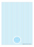 Baby Blue Safety Pins Invitation