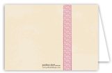 Baby Girl Bow Folded Note Card