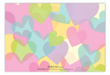 Baby Love Girl Baby Shower Flat Note Card