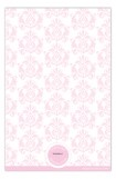 Baby Pink Damask Twins Photo Card