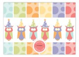 Birthday Owls Photo Card
