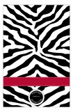Black and Red Zebra Photo Card