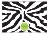 Black Zebra Flat Note Card