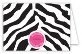 Black Zebra Folded Note Card