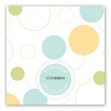 Blue Bubble Dots Gift Tag