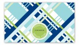 Blue Classic Plaid Calling Card