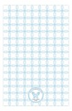 Blue Cross Tile Pattern Photo Card