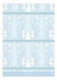 Blue Ikat Photo Card