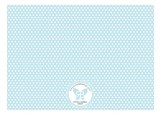 Blue Polka Dots Photo Card