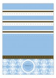 Blue Winter Damask Photo Card