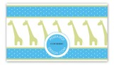 Boy Giraffe Icon Calling Card