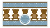 Boy Teddy Bear Icon Calling Card