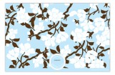 Branch Blossoms Blue Photo Card
