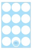 Bright Initial Blue Photo Card Birth Announcements