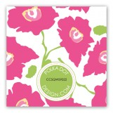 Bright Pink Poppies Gift Tag