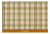 Brown Glen Plaid Flat Note Card