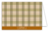 Brown Glen Plaid Note Card