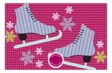 Celebrate and Winter Skate Party Invitations